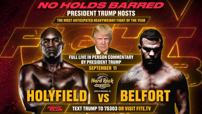 Donald Trump to host and commentate Holyfield vs Belfort