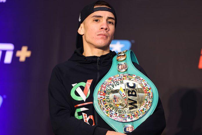 Oscar Valdez at press conference