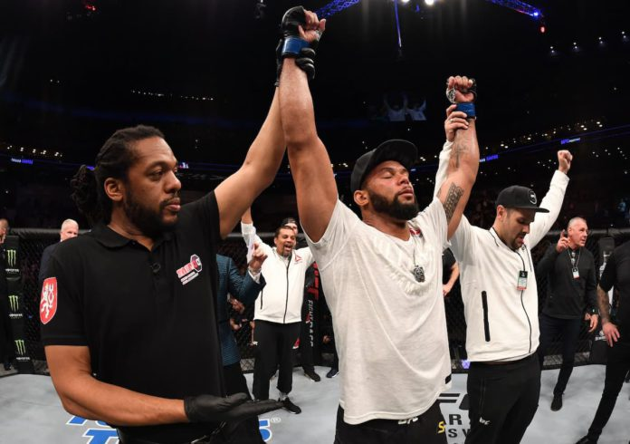 UFc light heavyweight Thiago Santos victorious