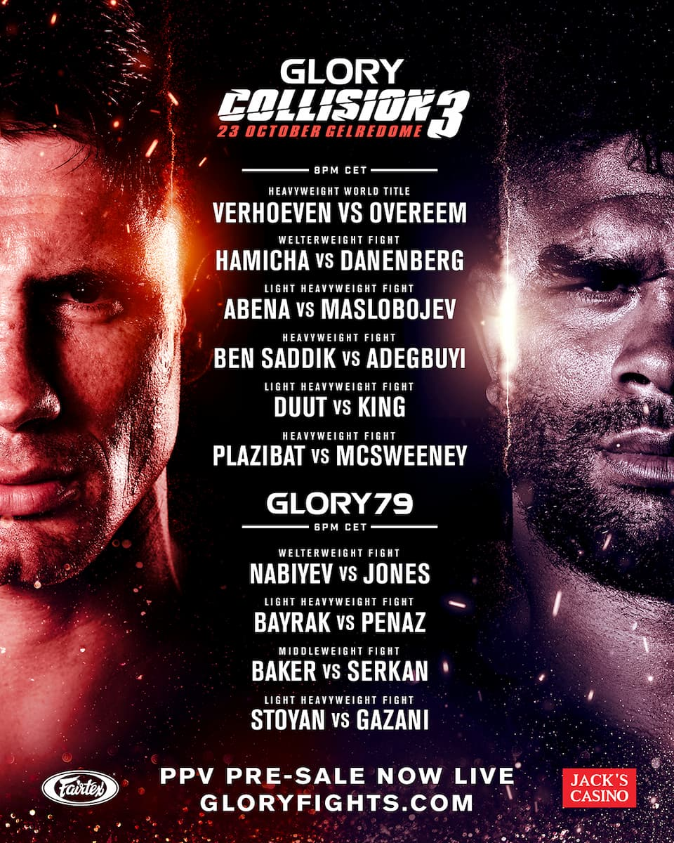 Glory 79 Collision 3 fight card